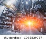 logistics concept. huge... | Shutterstock . vector #1096839797
