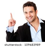 Number one business man - isolated over a white background - stock photo