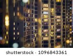 abstract hong kong housing... | Shutterstock . vector #1096843361