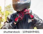 man in a motorcycle with helmet ... | Shutterstock . vector #1096849481
