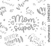 happy mother's day postcard.... | Shutterstock .eps vector #1096856237