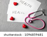 sheets of paper with word... | Shutterstock . vector #1096859681