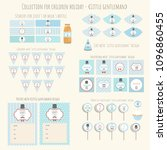 collection of templates for... | Shutterstock .eps vector #1096860455