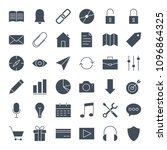 user interface solid web icons. ... | Shutterstock .eps vector #1096864325
