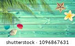 beach and summer background... | Shutterstock . vector #1096867631
