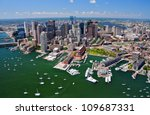 Aerial View Of Boston  Ma  Usa