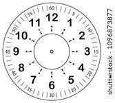 clock face for house  alarm ... | Shutterstock .eps vector #1096873877