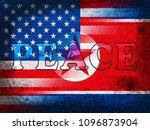 united states north korean... | Shutterstock . vector #1096873904