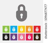 padlock icon   vector | Shutterstock .eps vector #1096877477