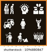 set of 9 people filled icons...   Shutterstock .eps vector #1096880867