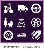 set of 9 transport filled icons ... | Shutterstock .eps vector #1096882541