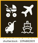 set of 4 transport filled icons ... | Shutterstock .eps vector #1096882835