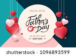 happy father s day calligraphy... | Shutterstock .eps vector #1096893599
