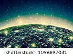 earth from space. best internet ... | Shutterstock . vector #1096897031