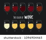 these are types glasses of wine ...   Shutterstock .eps vector #1096904465