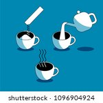 making instant coffee pour...   Shutterstock .eps vector #1096904924
