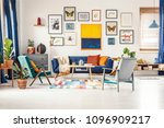 simple posters gallery hanging... | Shutterstock . vector #1096909217