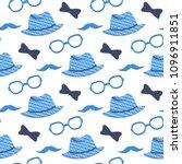 hat  glasses  mustache  bow tie ... | Shutterstock .eps vector #1096911851