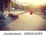 skateboarder skateboarding on... | Shutterstock . vector #1096912499