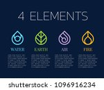 nature 4 elements in coil line... | Shutterstock .eps vector #1096916234