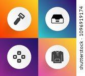 modern  simple vector icon set... | Shutterstock .eps vector #1096919174