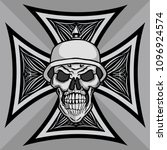 chopper and hot rod cross with... | Shutterstock .eps vector #1096924574