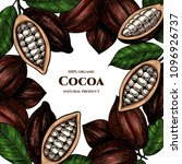 vector frame with cocoa. hand... | Shutterstock .eps vector #1096926737