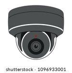 cctv camera. security... | Shutterstock .eps vector #1096933001