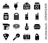 filled set of 16 food icons... | Shutterstock .eps vector #1096942409