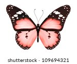 Stock photo red butterfly isolated on white 109694321