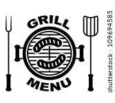 vector grill menu symbol | Shutterstock .eps vector #109694585