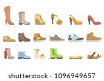 different shoes set | Shutterstock .eps vector #1096949657