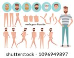set for creating of casual men... | Shutterstock .eps vector #1096949897