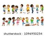 kids bullies illustration   Shutterstock .eps vector #1096950254