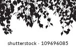 silhouettes of leaves | Shutterstock .eps vector #109696085
