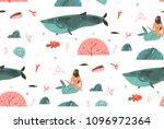 hand drawn vector seamless...   Shutterstock .eps vector #1096972364