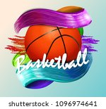basketball ball and text... | Shutterstock .eps vector #1096974641