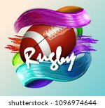 design with rugby ball | Shutterstock .eps vector #1096974644