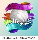 volleyball ball background text   Shutterstock .eps vector #1096974647
