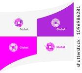 global infinite circle knot...   Shutterstock .eps vector #1096986281