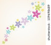 Floral Background. Vector...
