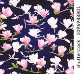 seamless pattern with  pink... | Shutterstock .eps vector #1096988801