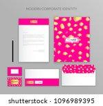 corporate identity business set.... | Shutterstock .eps vector #1096989395