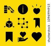 shapes filled set of vector...   Shutterstock .eps vector #1096994915