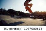 skateboarder skateboarding on... | Shutterstock . vector #1097000615