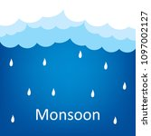happy monsoon season design ... | Shutterstock .eps vector #1097002127