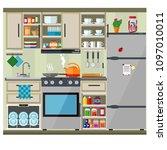 vector illustration on the... | Shutterstock .eps vector #1097010011
