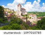 village of saint cirq lapopie... | Shutterstock . vector #1097010785