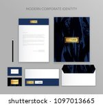 corporate identity business set.... | Shutterstock .eps vector #1097013665
