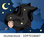 Vector Portrait Of Sleeping...